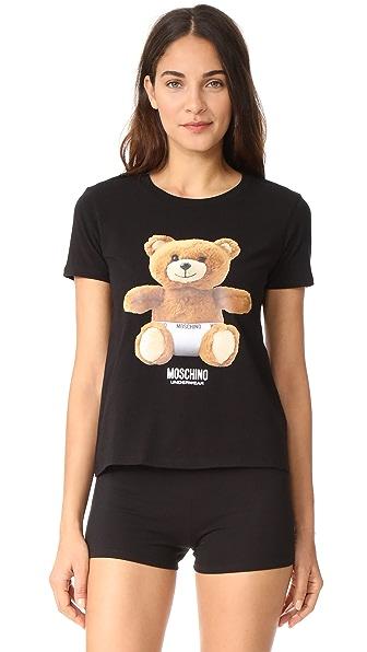 Moschino Short Sleeve T-Shirt - Black