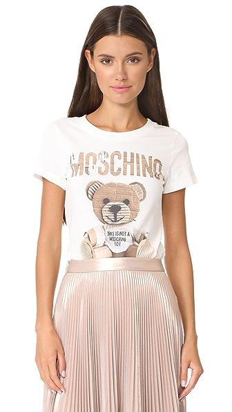 Moschino Bear SS Shirt - White
