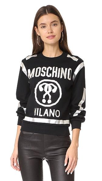 Moschino Logo Pullover - Black