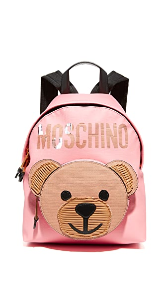 Moschino Bear Backpack - Pink/Black