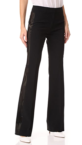 Moschino Flare Pants In Black