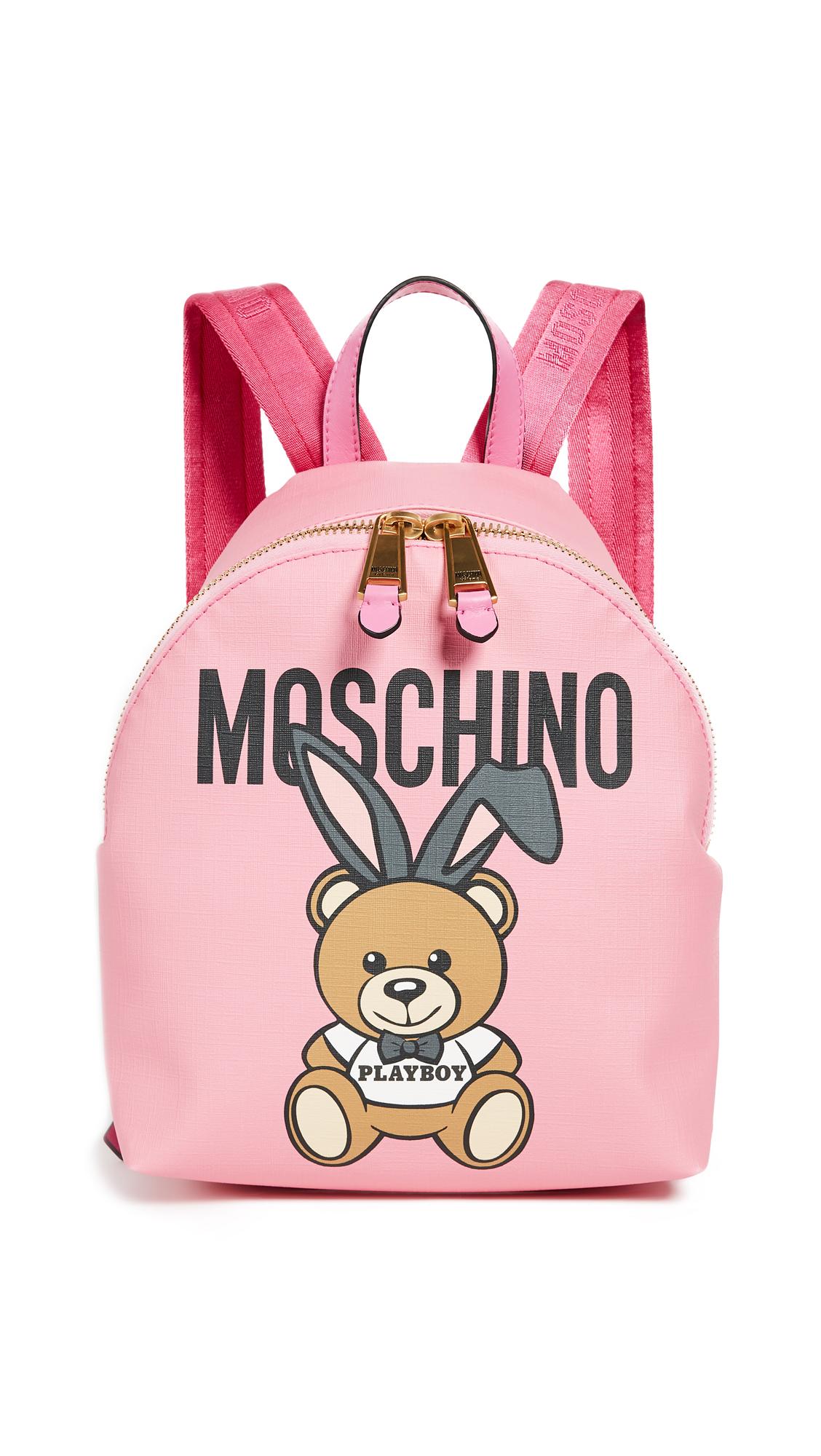 Moschino Logo Backpack - Fantasy Print Fuchsia