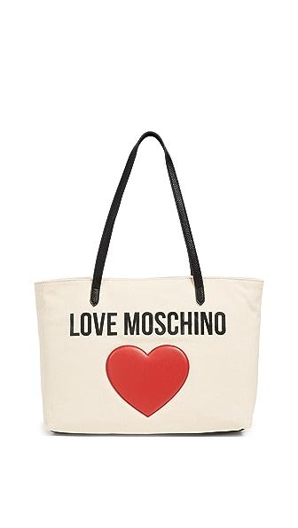 Moschino Love Moschino Tote In White/Black/Red
