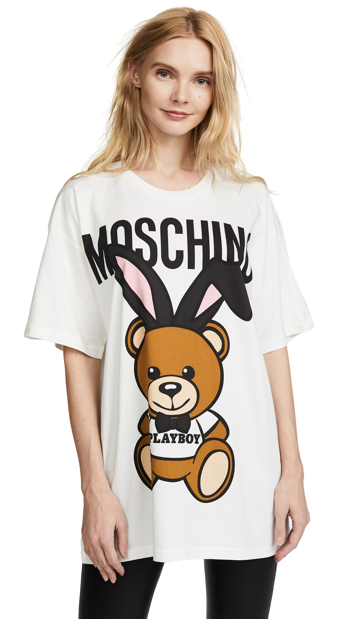 Moschino Playboy Bear Tee - White