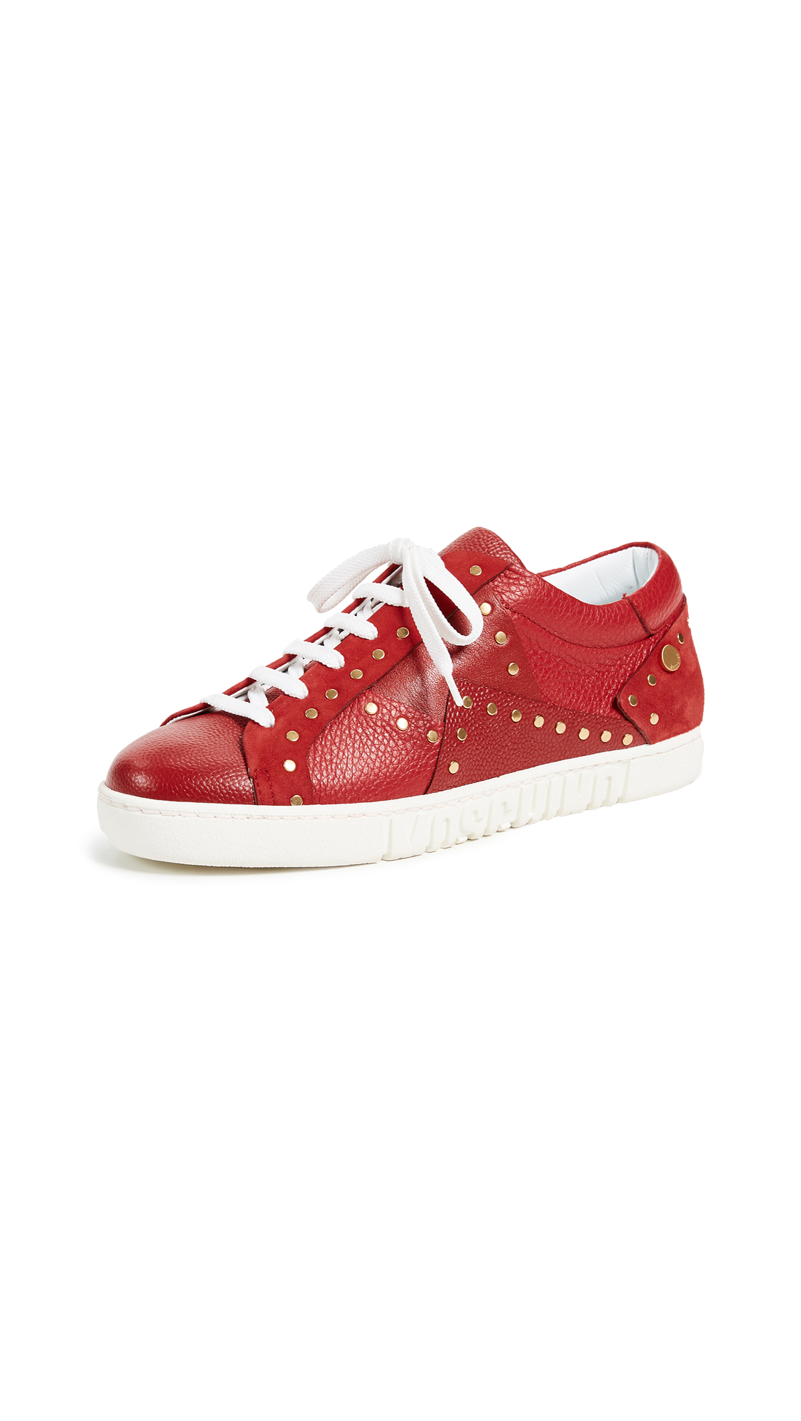 Moschino Studded Sneakers - Burgundy
