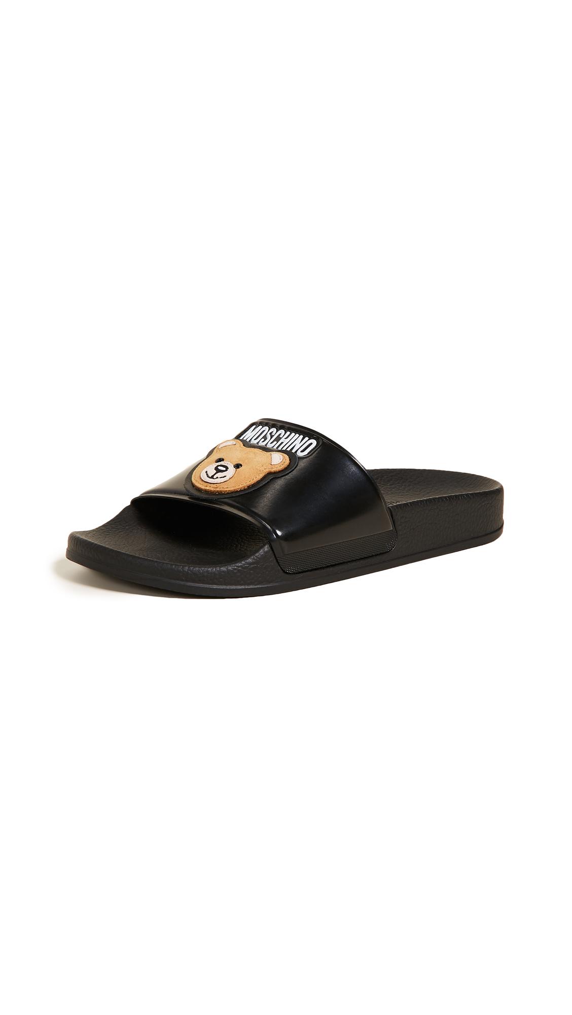 Moschino Slides - Black
