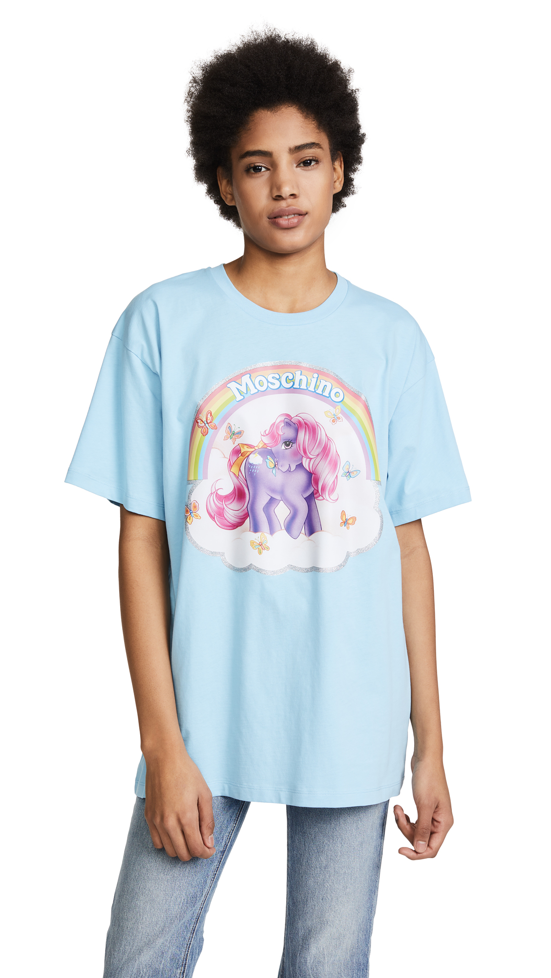 Moschino Oversized My Little Pony Tee - Light Blue