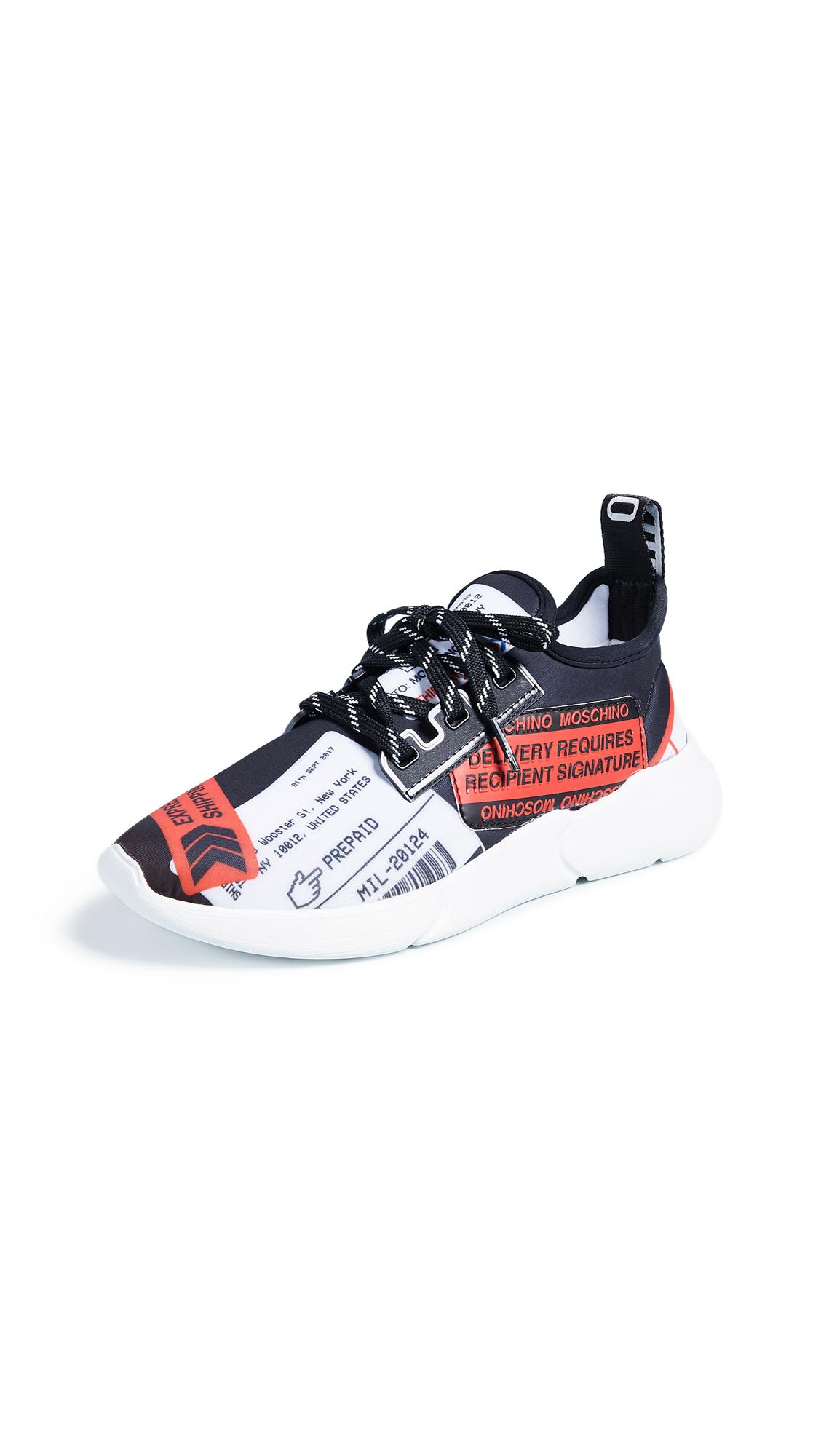Moschino Multicolored Sneakers - Black/Red/White