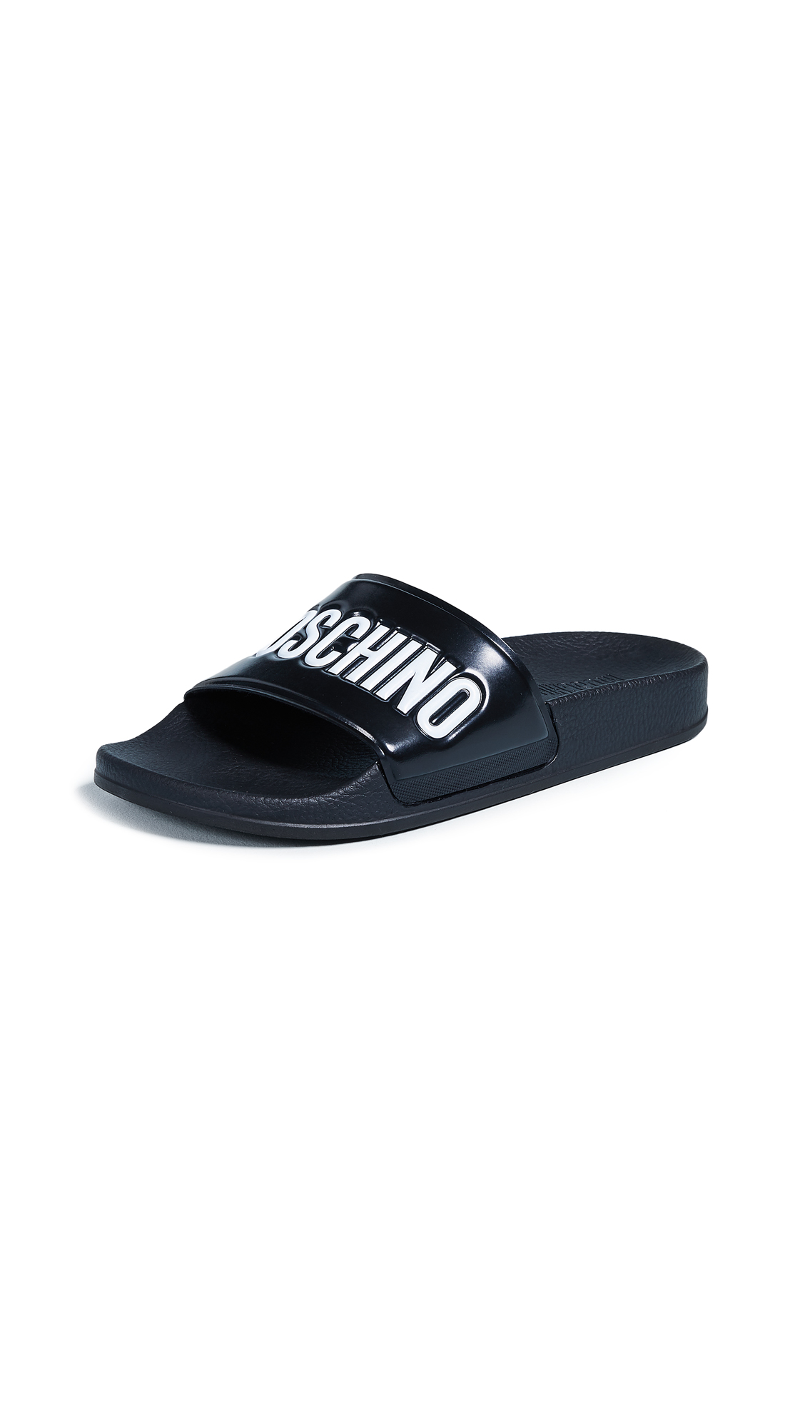 Moschino Moschino Logo Sandals - Black