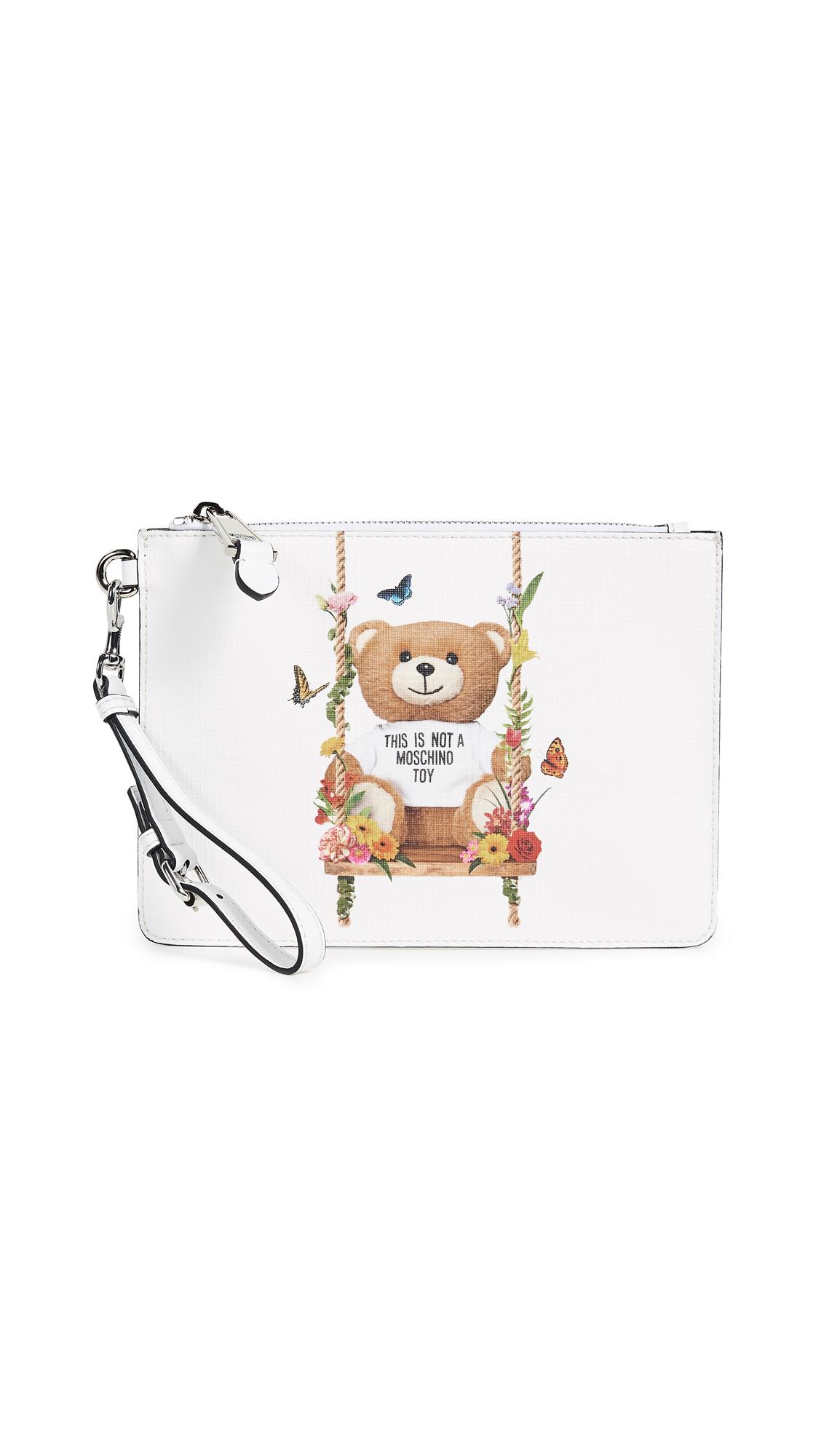 Moschino Bear Wristlet - White