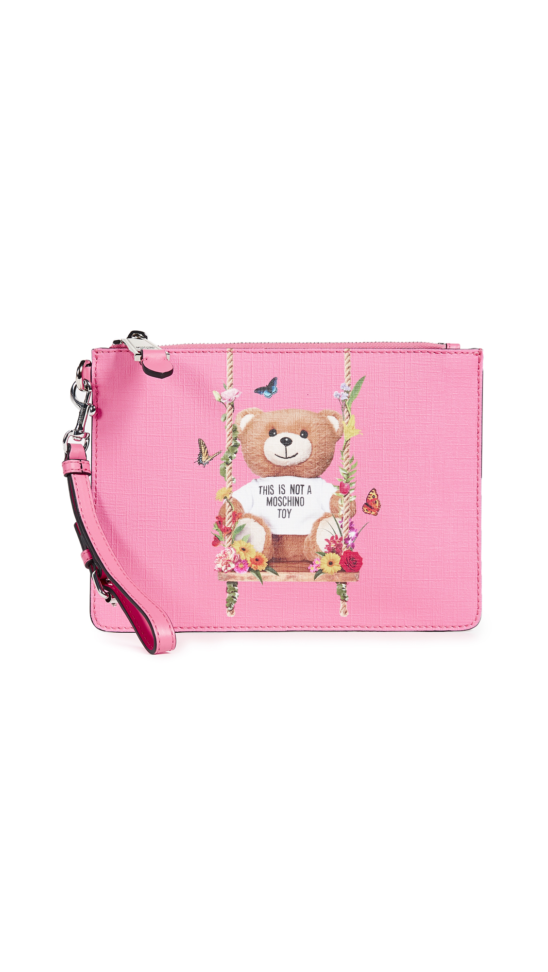 Moschino Bear Wristlet - Pink