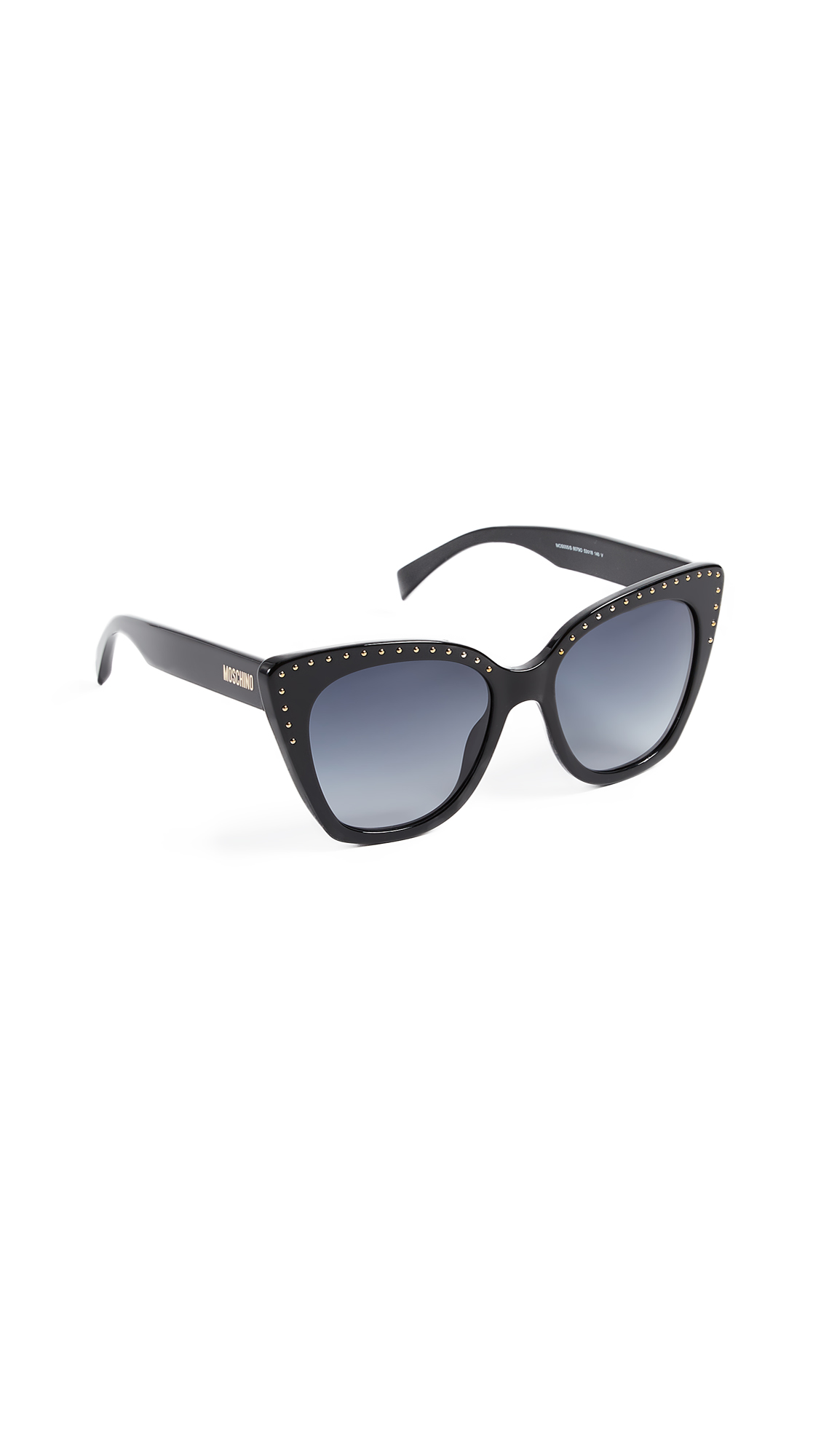 Moschino Slight Cat Eye Sunglasses - Black/Dark Grey