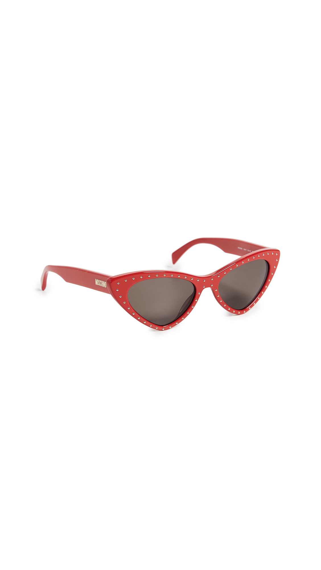 Moschino Pointed Cat Eye Sunglasses - Red/Grey Blue