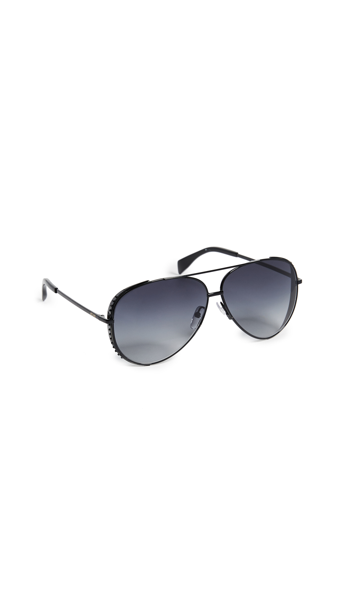 Moschino Aviator Sunglasses - Black/Dark Grey Gradient