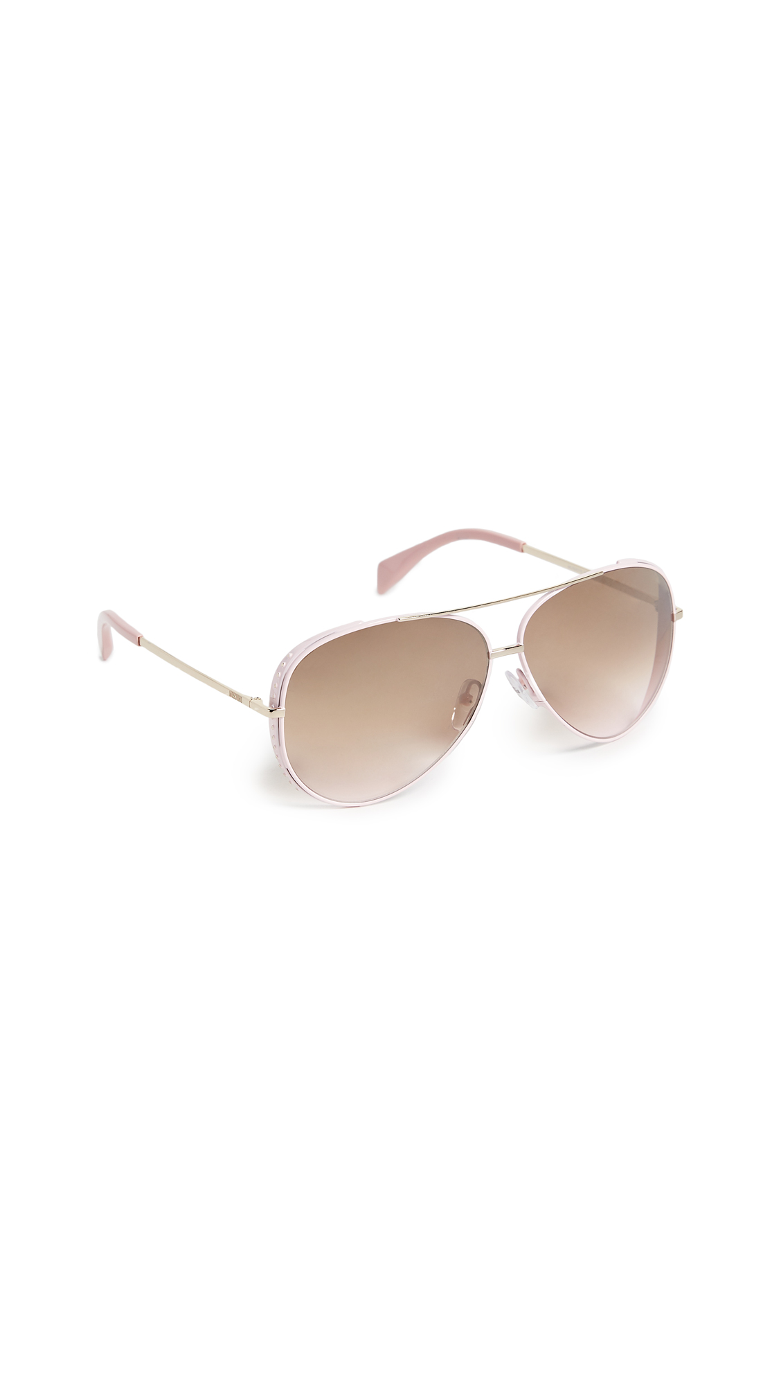 Moschino Aviator Sunglasses - Pink/Brown Gradient