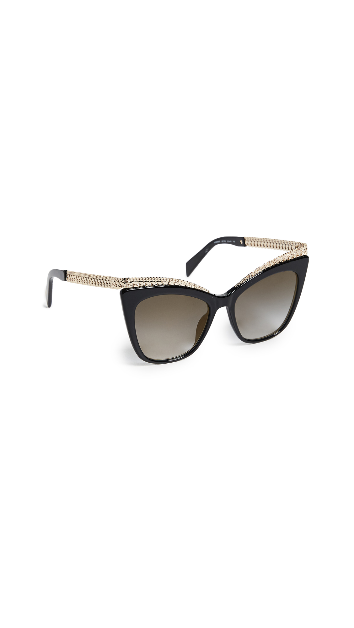 Moschino Chain Cat Eye Sunglasses - Black/Grey