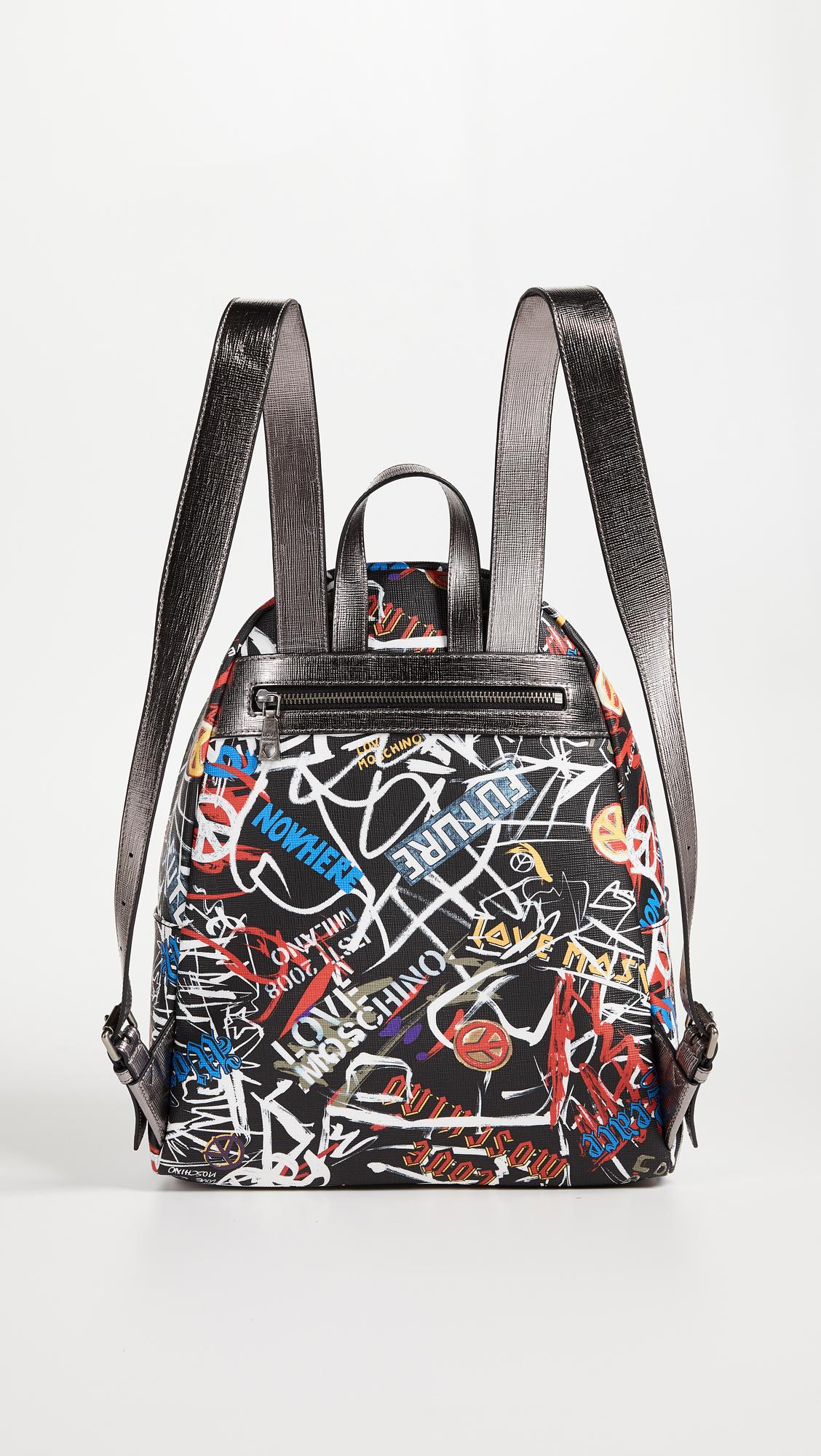 54f6a199840 Moschino Love Moschino Graffiti Backpack   SHOPBOP