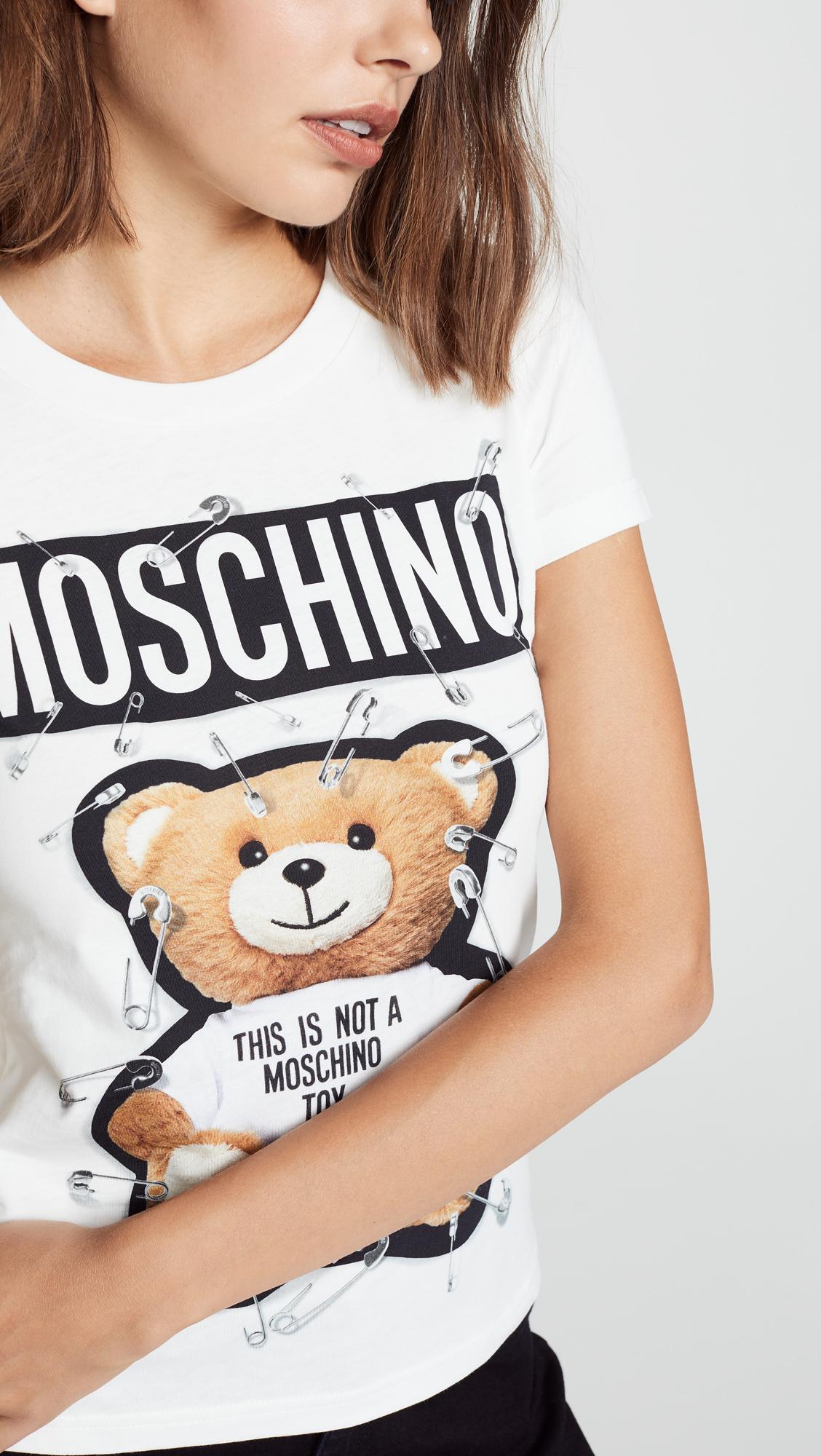 25c585f15 Moschino Safety Pin Bear Tee   SHOPBOP