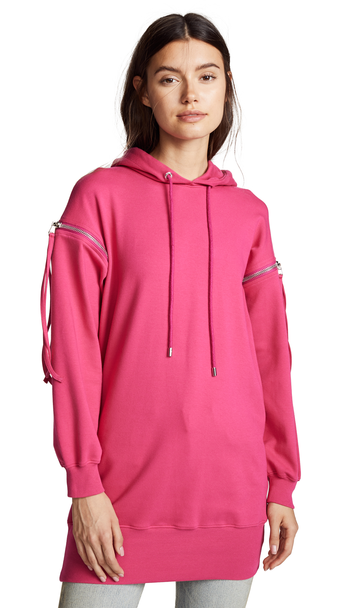 Moschino Hoodie Dress In Pink