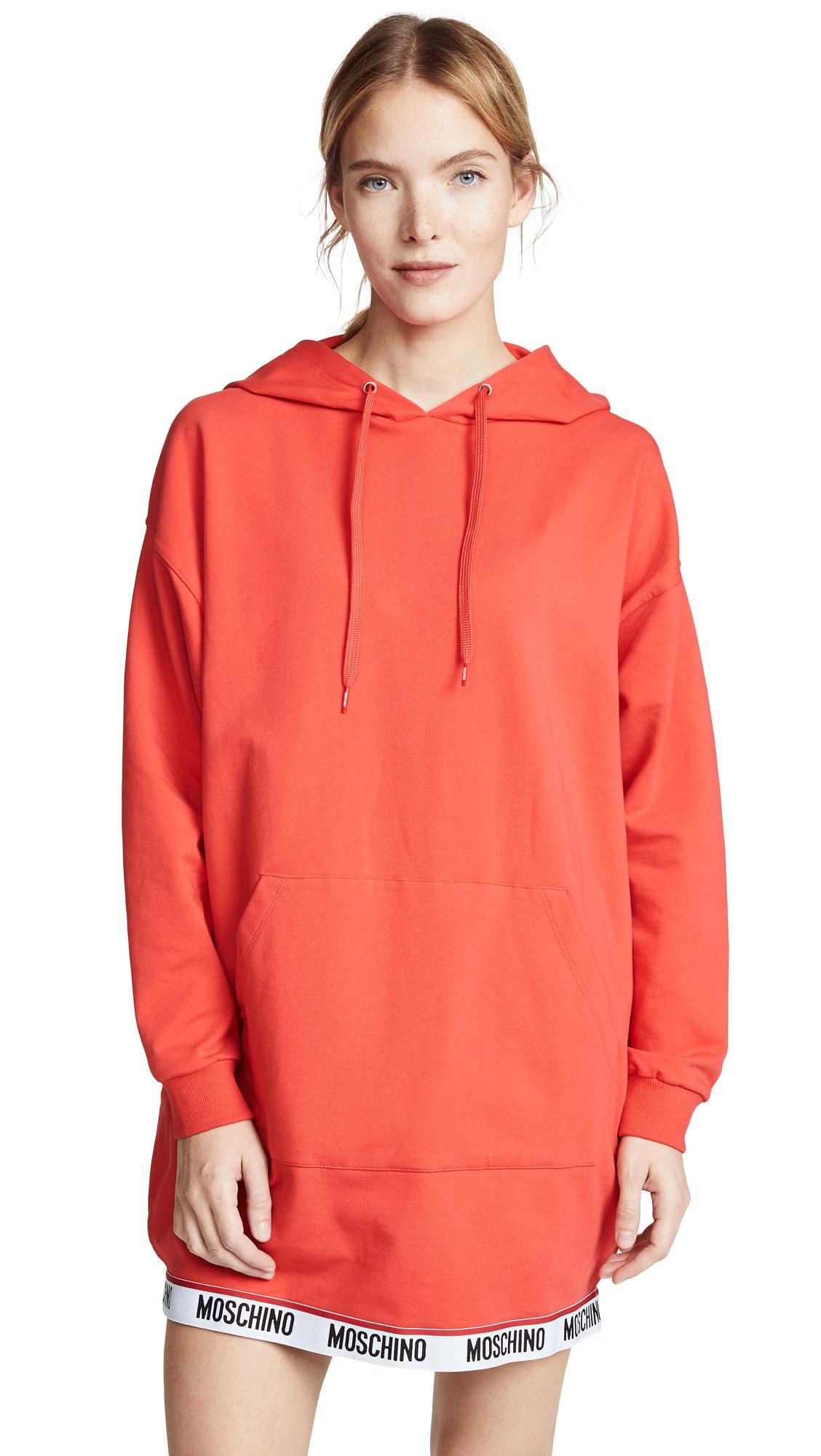 Moschino Hoodie Dress - Red