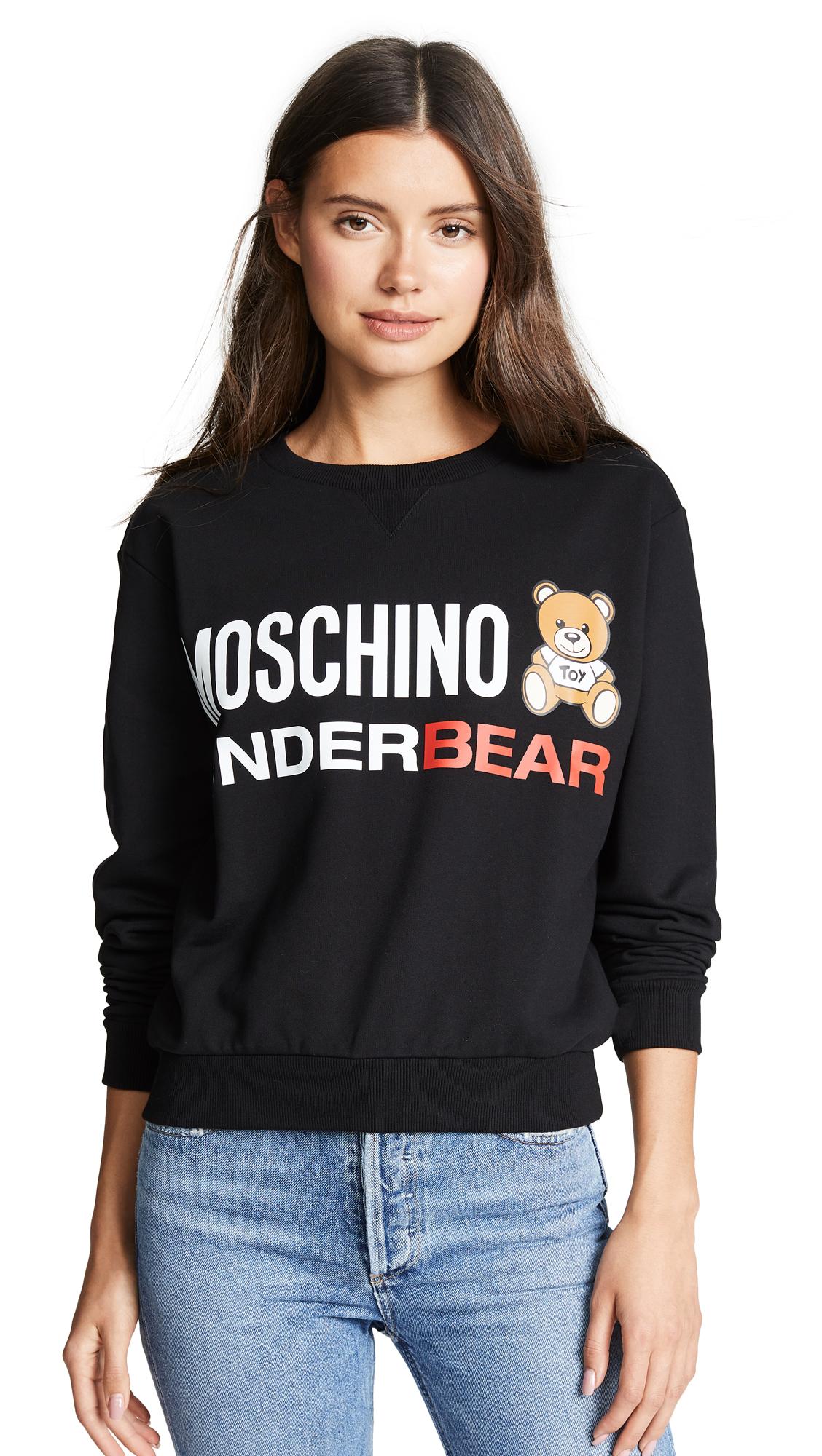 Moschino Moschino Underbear Sweatshirt In Black