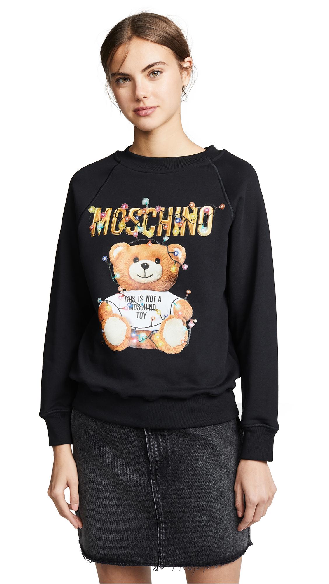 Moschino Christmas Lights Bear Sweatshirt - Black