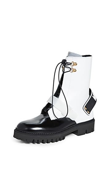 Photo of  Moschino Moschino Combat Boots- shop Moschino Boots, Flat online sales
