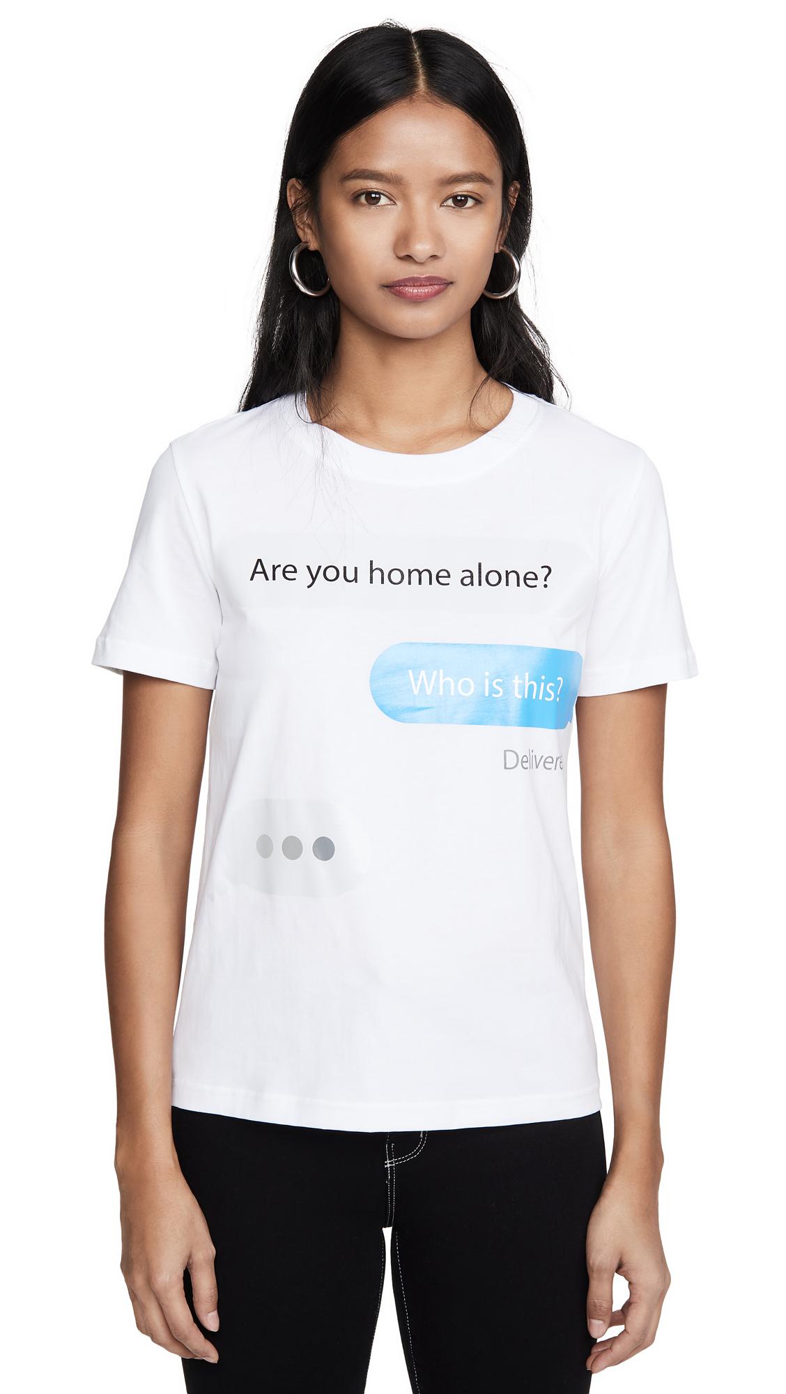 Buy Moschino online - photo of Moschino Text T-Shirt