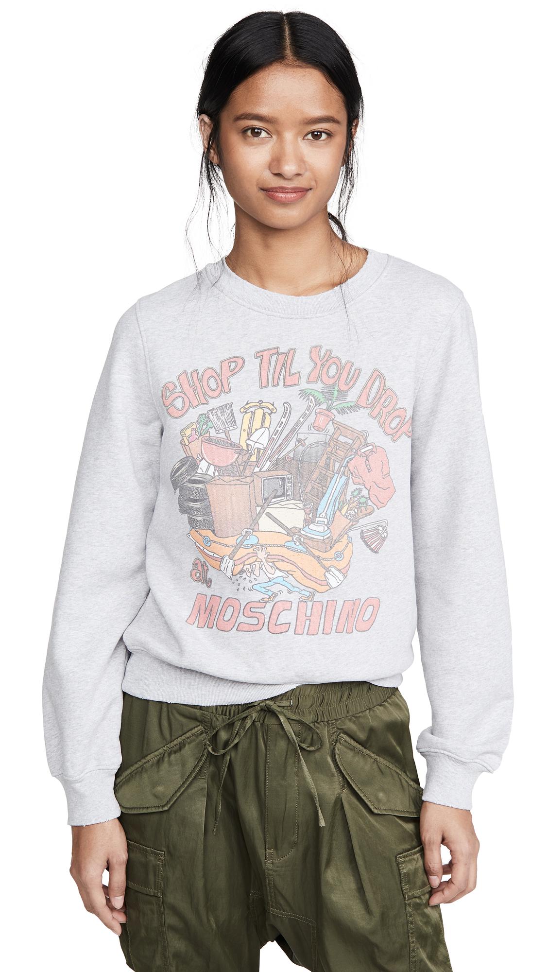 Buy Moschino online - photo of Moschino Shop Till You Drop Sweatshirt