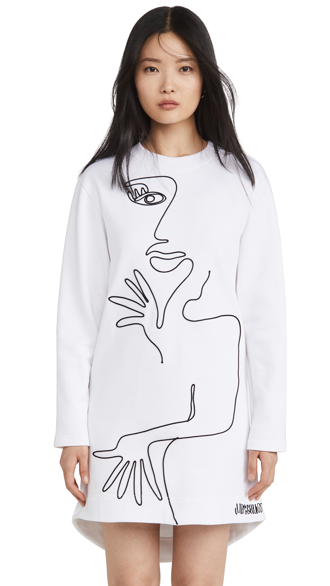 Moschino Long Sleeve Artwork Dress - 40% Off Sale