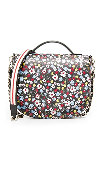Mother of Pearl Saddle Bag - Black Print
