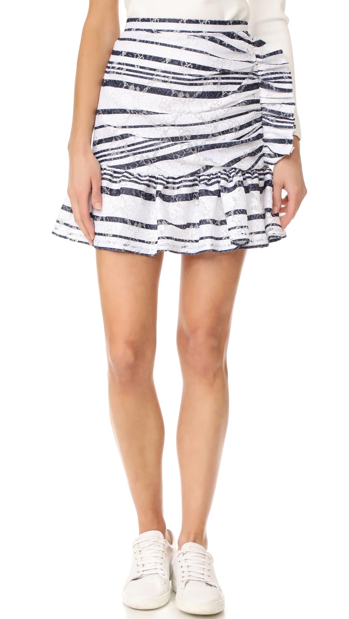 Mother of Pearl Elmira Skirt - White/Navy