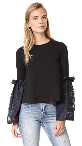 Mother of Pearl Addie Top In Black