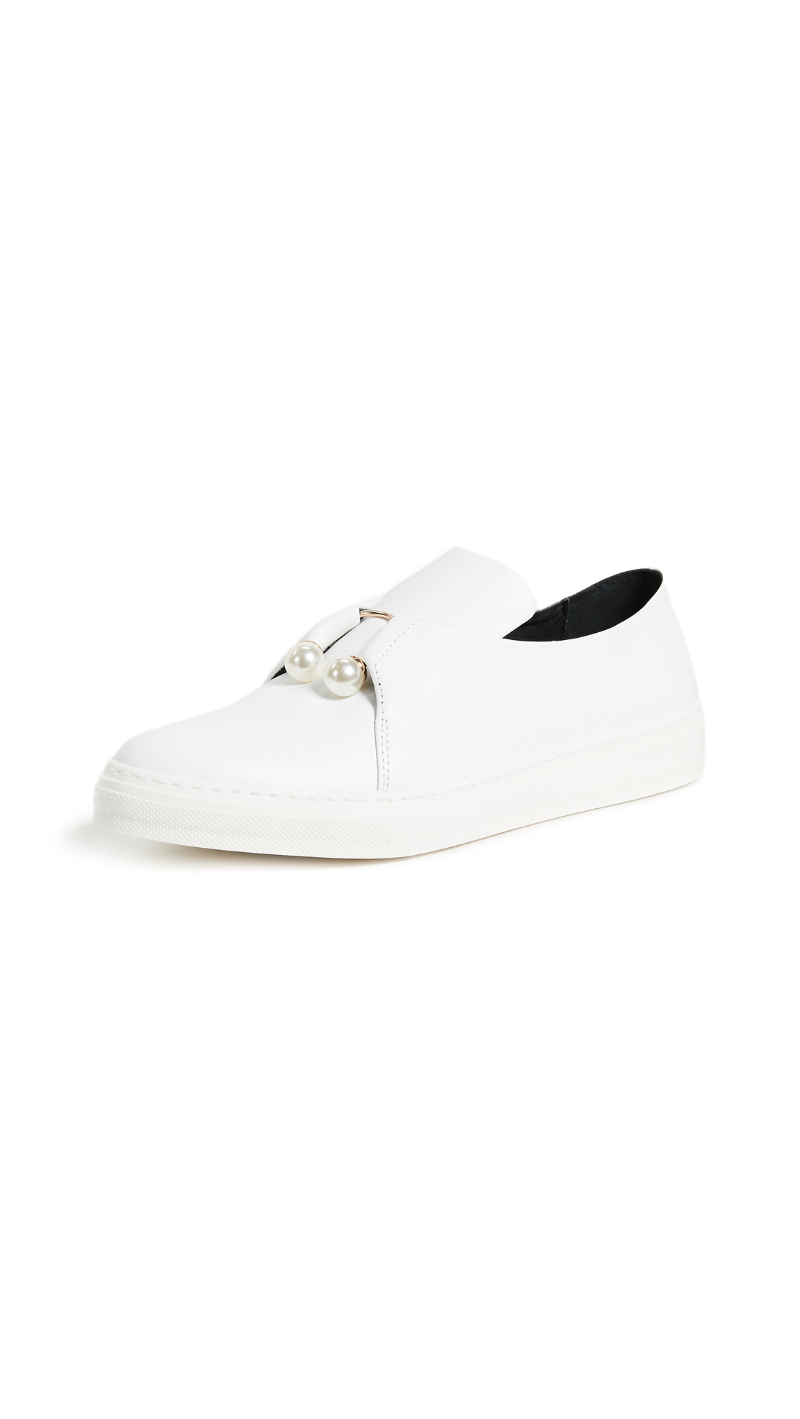Mother of Pearl Fletcher Slip On Shoes - White