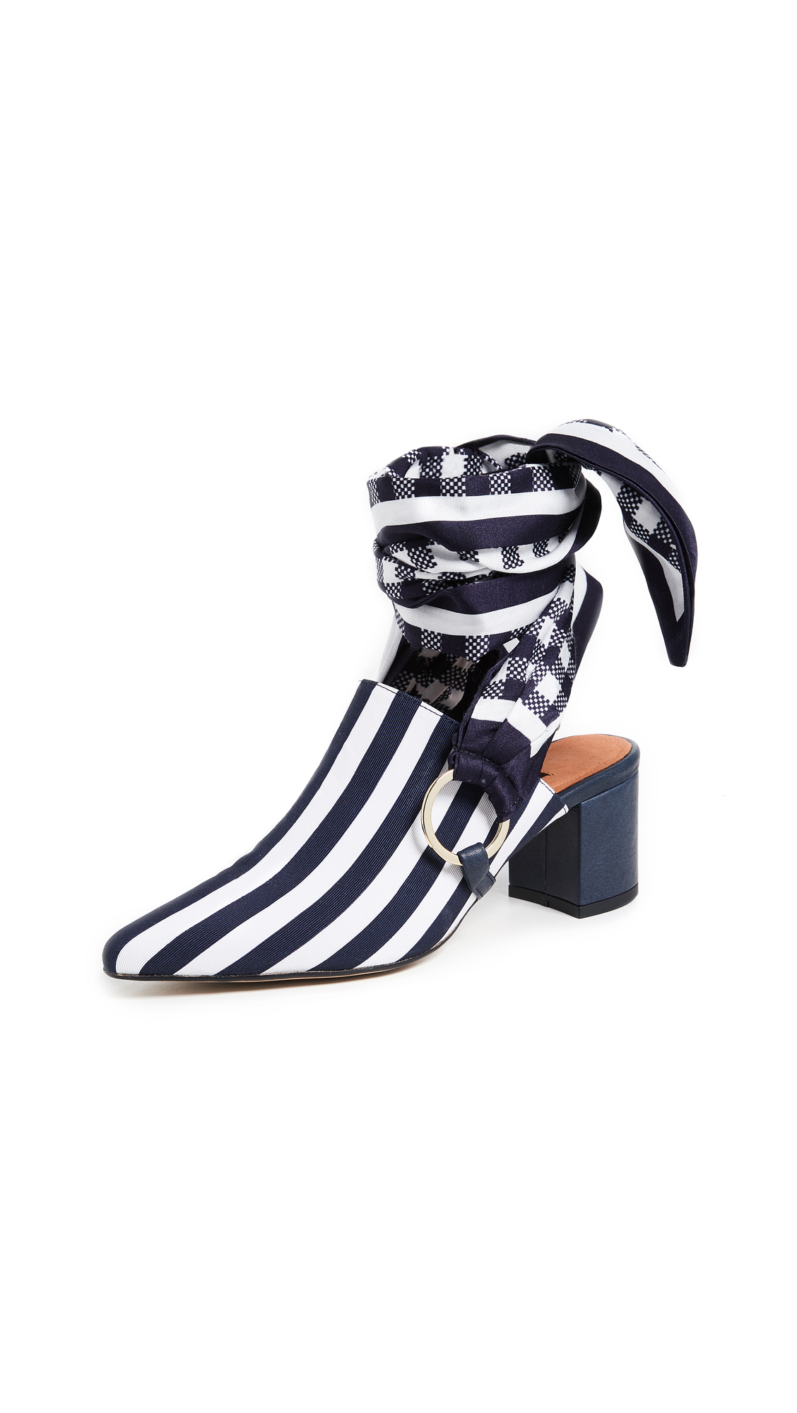 Mother of Pearl Courtney Mules - Navy/White