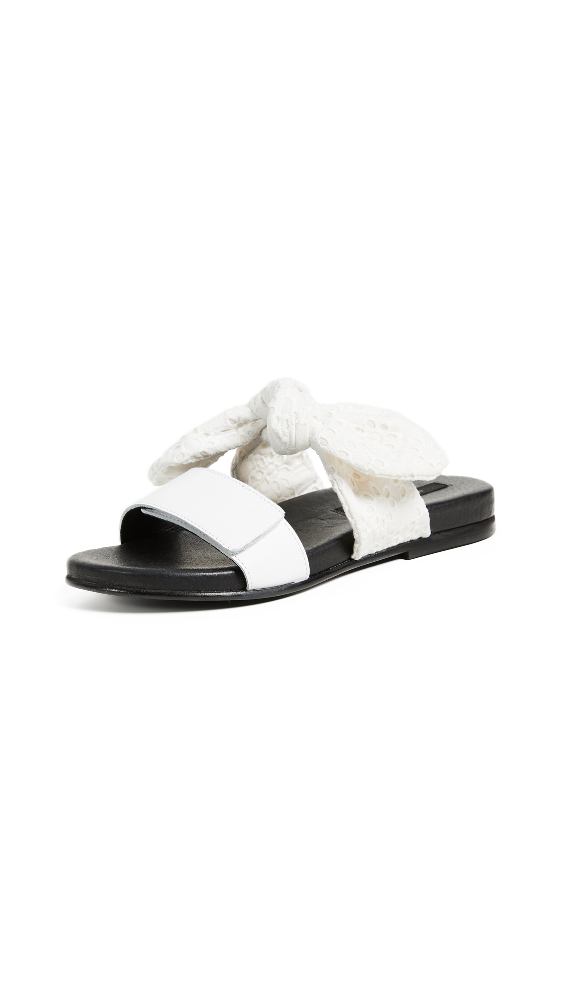 Mother of Pearl Alfie Slides - White