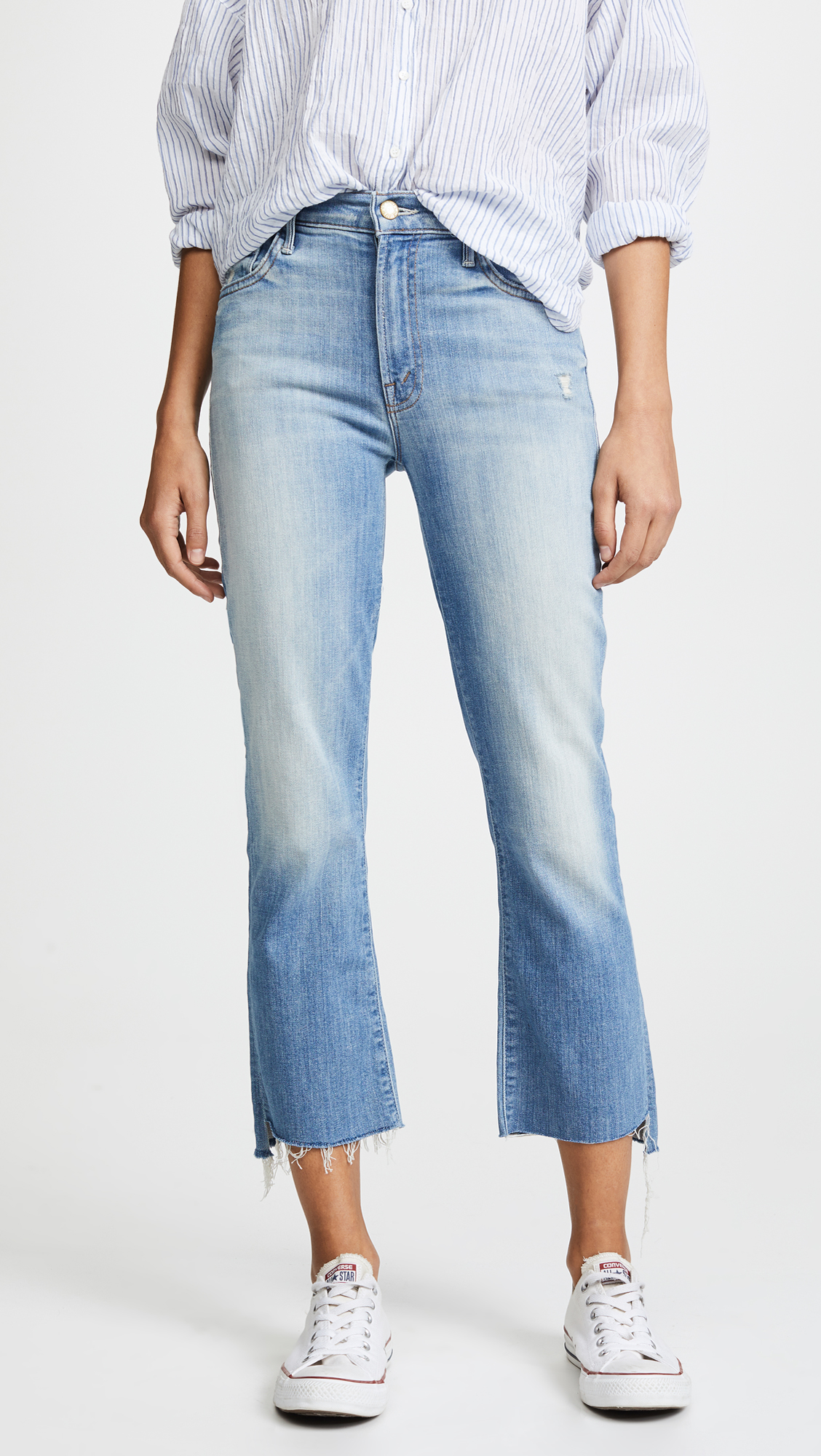 on feet at good selling best value MOTHER Insider Crop Step Fray Jeans | SHOPBOP SAVE UP TO 50 ...