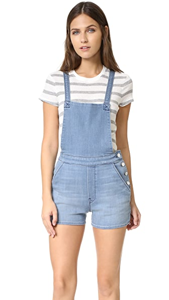 MOTHER Swooner Short Overalls