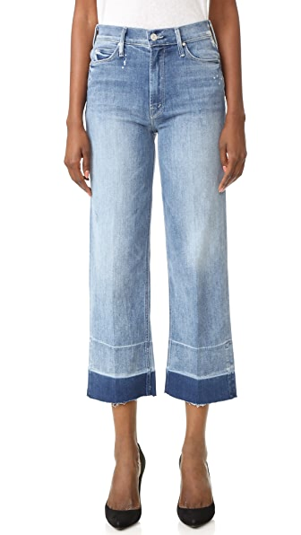 MOTHER Undone Hem Maverick Jeans - Double Time