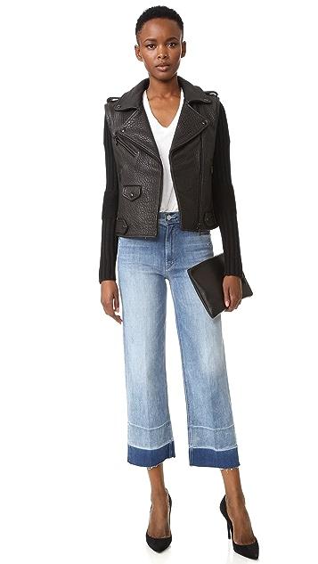 MOTHER Undone Hem Maverick Jeans