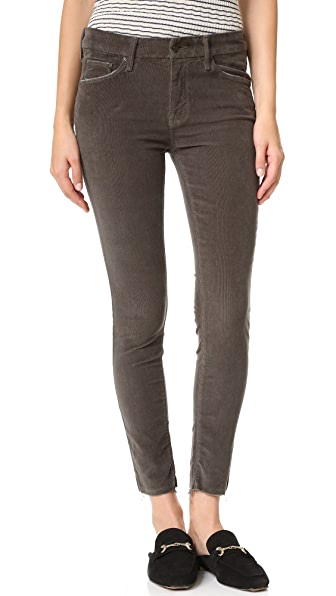 MOTHER Looker Ankle Fray Corduroy Pants