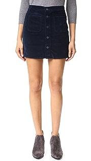 MOTHER Patch Pocket Miniskirt