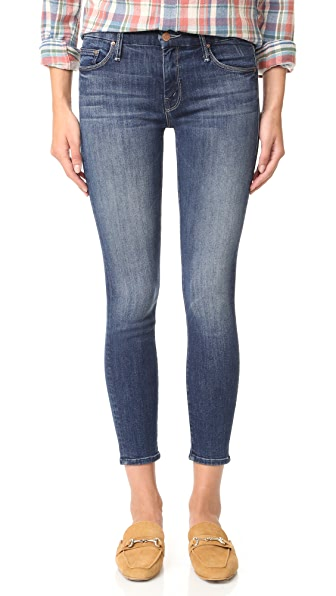 MOTHER Looker Crop Skinny Jeans - Here Kitty, Kitty