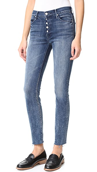 MOTHER Fly Cut Stunner Fray Jeans - Moon Dark