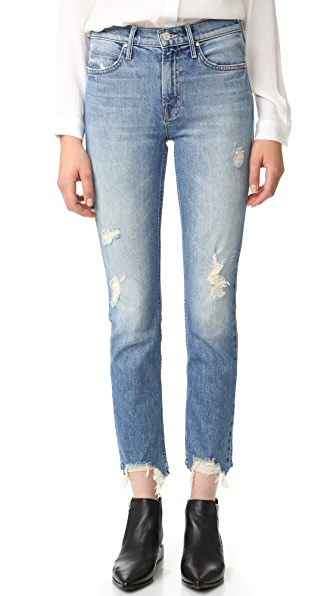 MOTHER The Flirt Fray Rigid Jeans - Cold Feet