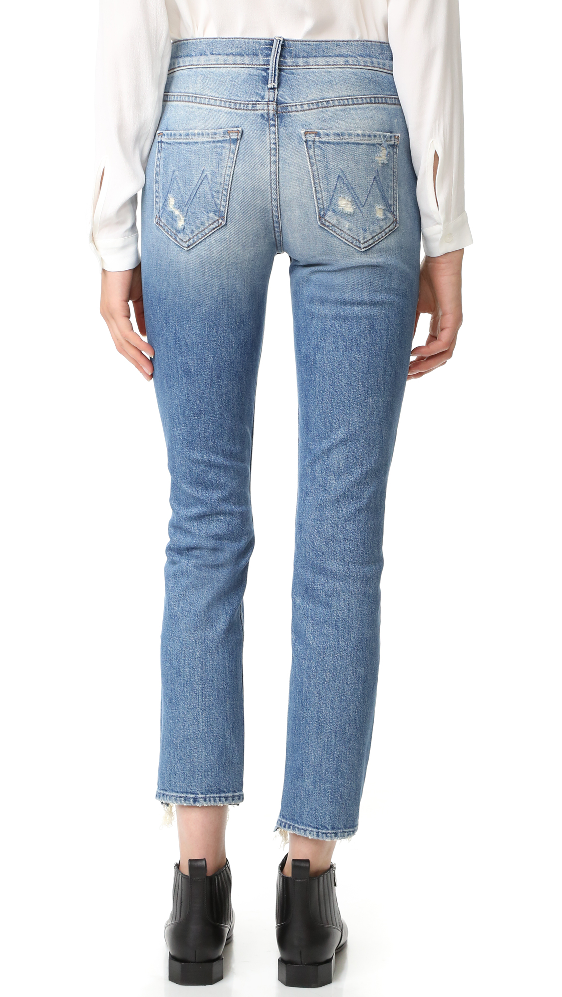 The Flirt Fray Jeans Mother 3RzgHccd