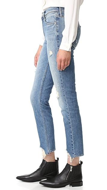MOTHER The Flirt Fray Rigid Jeans