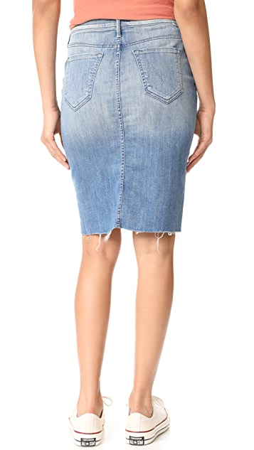 MOTHER The Peg Step Fray Skirt