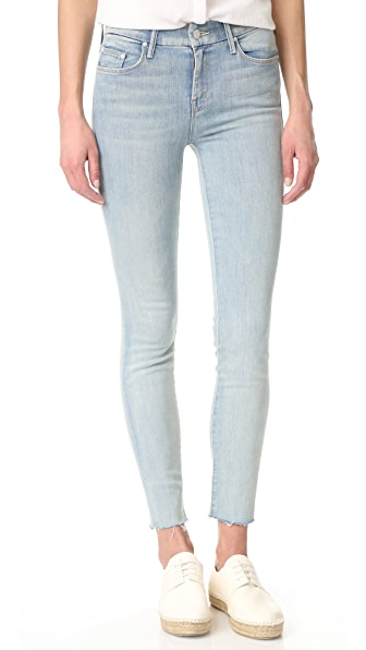 MOTHER The Looker Ankle Fray Jeans - Wink