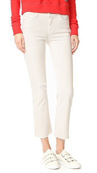 MOTHER The Rascal Ankle Snippet Jeans - Cool Ivory